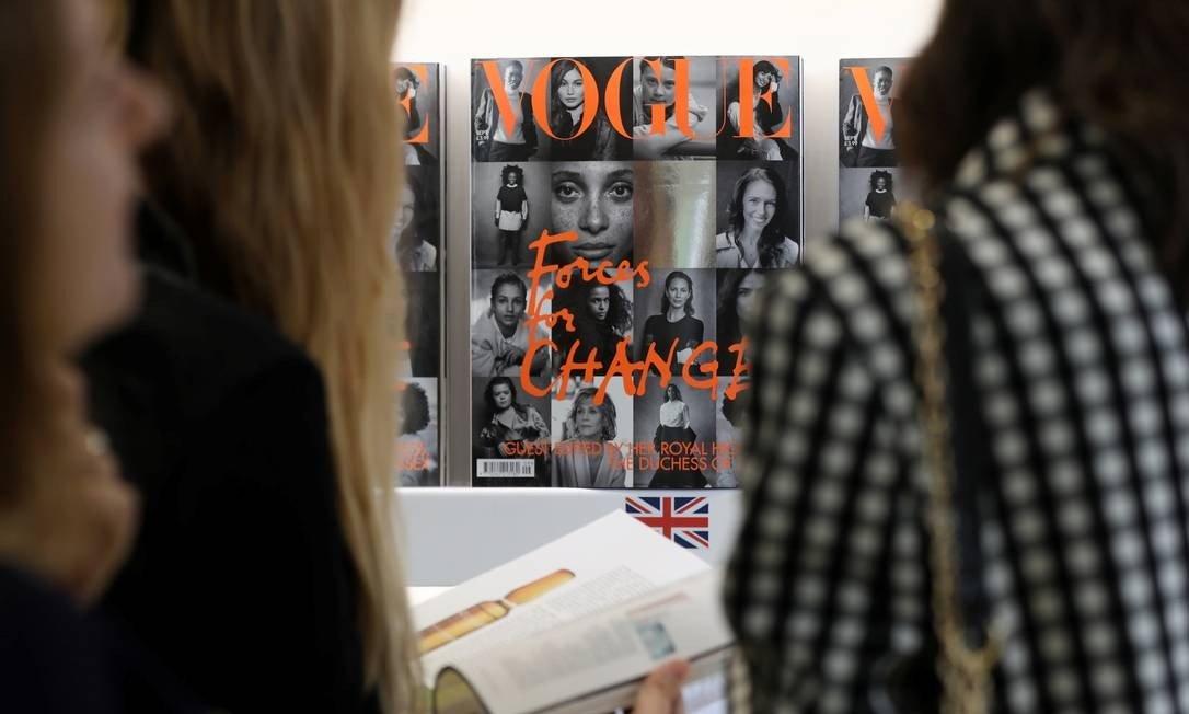 Edição de setembro da Vogue britânica, editada por Meghan Markle Foto: SIMON DAWSON / REUTERS