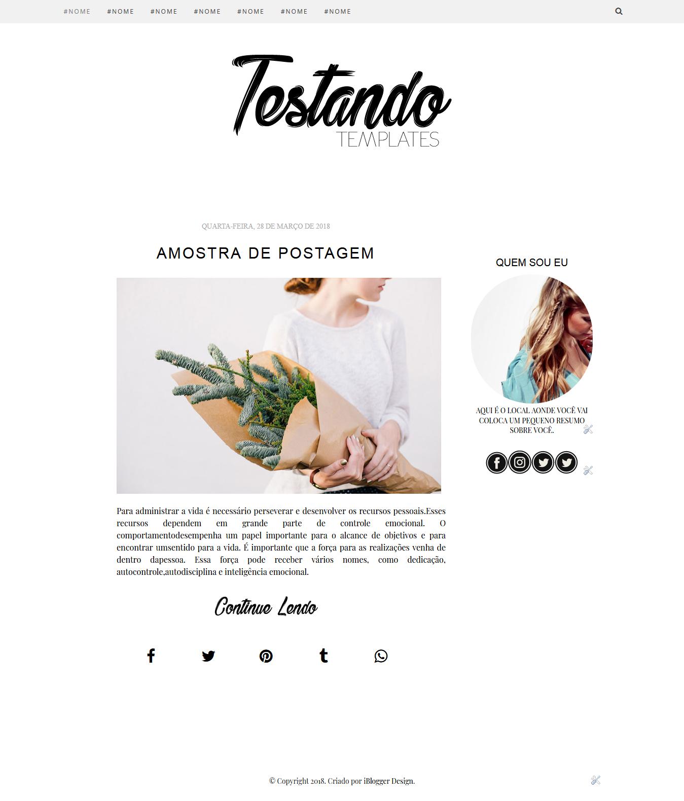 75607b060f821 Baixe um Template Minimalista para o seu Blog - iBlogger Design