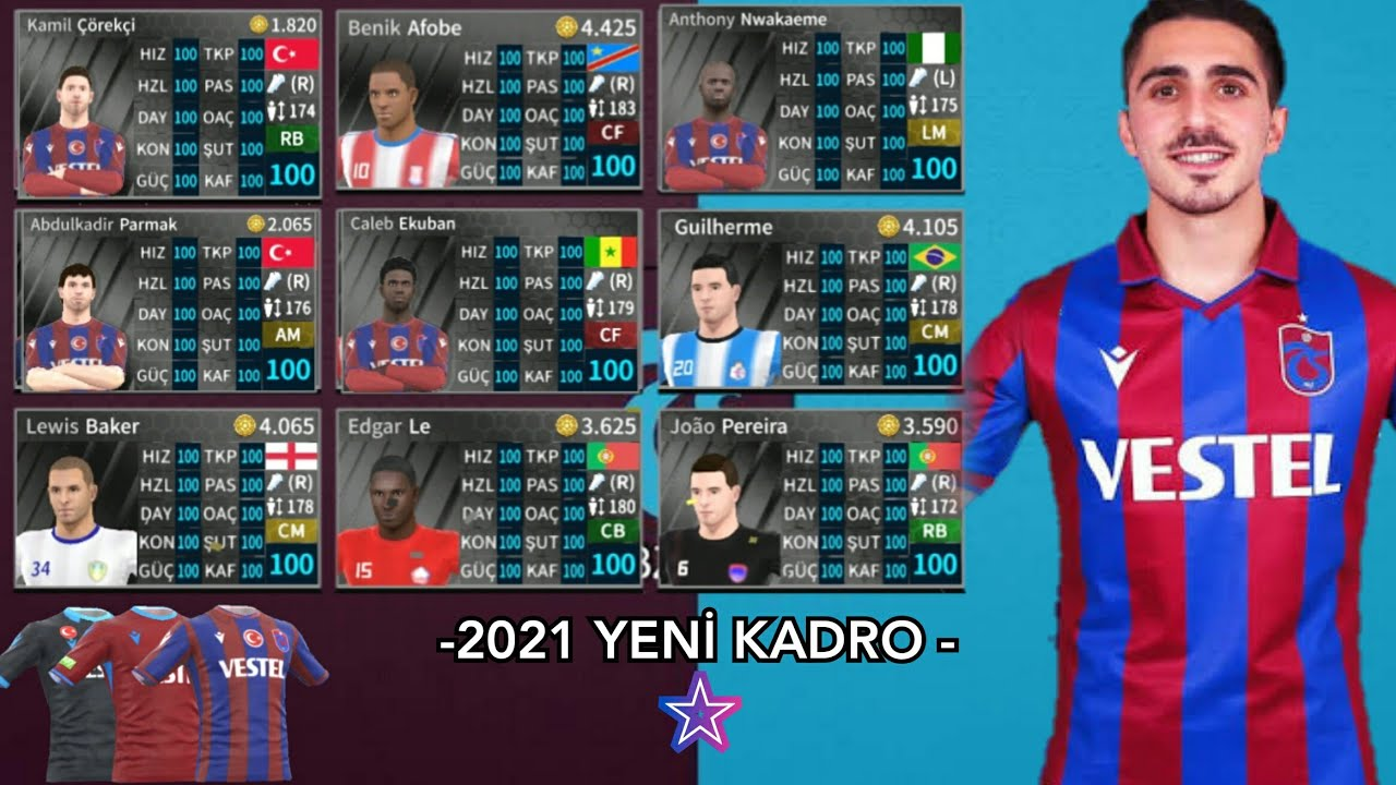 Dream League Soccer 2021 Trabzonspor Modu - En Son Transferler