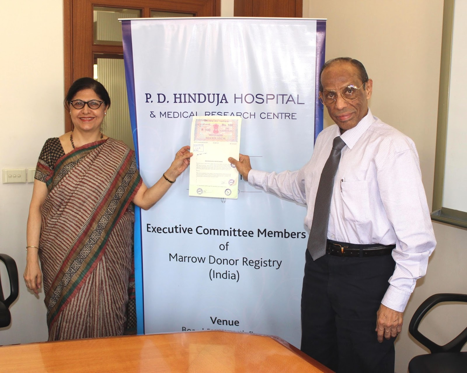 P  D  Hinduja Hospital signs MoU with Marrow Donor Registry of India