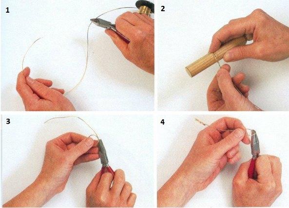 anillos de alambre con formas irregulares, revista anillos de alambre