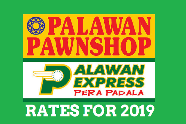 Palawan Express Pera Padala Rates for 2019