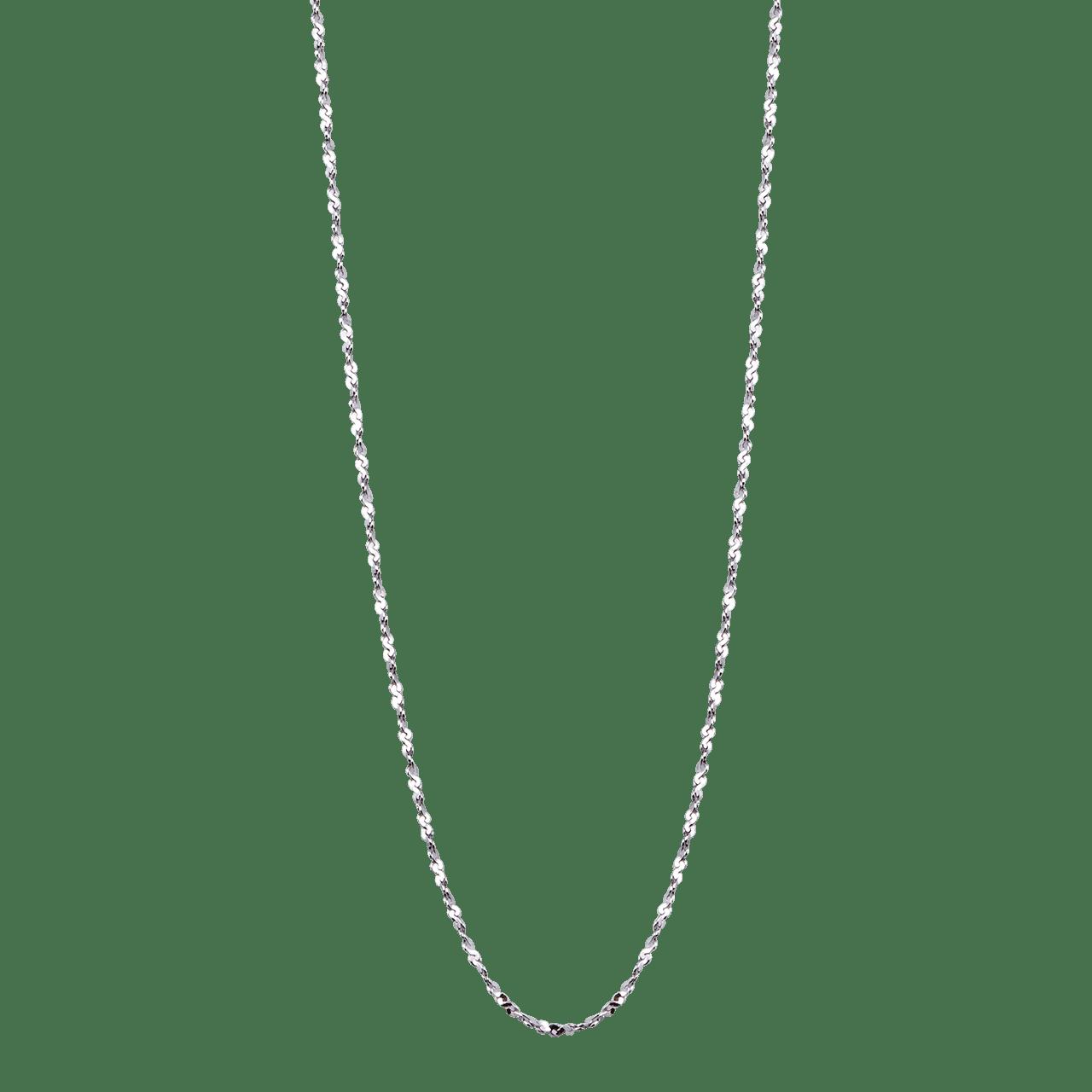 Dây chuyền bạc PNJSilver dây đan dập chữ S 0000K000045