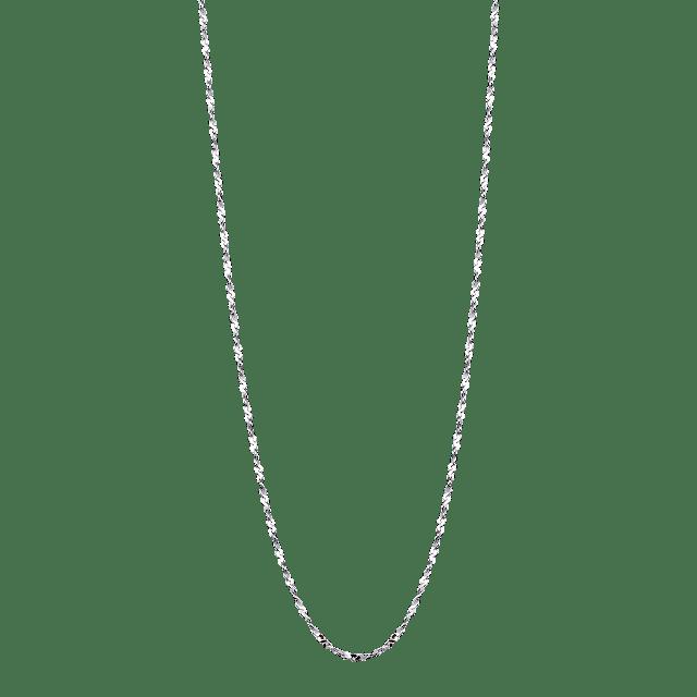 Dây chuyền bạc PNJSilver dây đan dập chữ S