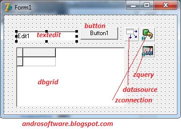 gambar form pencarian sederhana delphi 7