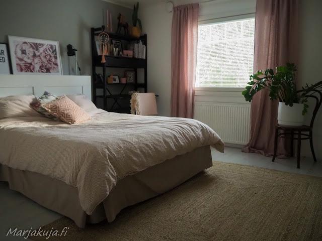 makuuhuone sisustus blogi jotex tekstiili boheemi juuttimatto