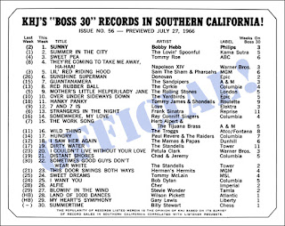 KHJ Boss 30 No. 56 - July 27, 1966