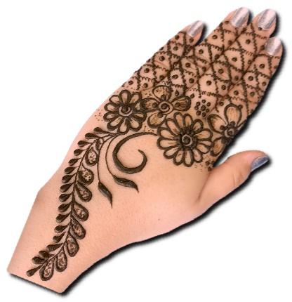 Back Hand Mehndi Design for Eid