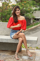 Rhea Chakraborty in Red Crop Top and Denim Shorts Spicy Pics ~  Exclusive 364.JPG