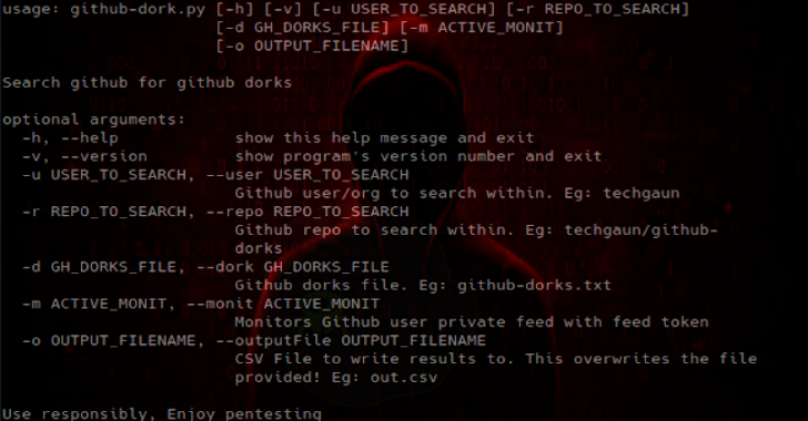 Github Dorks :  Collection of Github Dorks & Helper Tool
