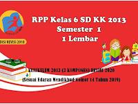 Download RPP Satu Lembar  Kelas 6 SD/MI Semester 1 KK 2013
