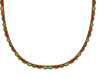 Madhubani neck design