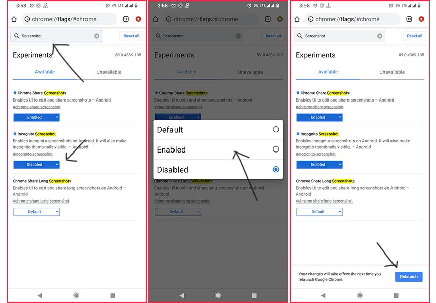 एंड्राइड स्मार्टफोन में Incognito Mode में स्क्रीनशॉट कैसे लें