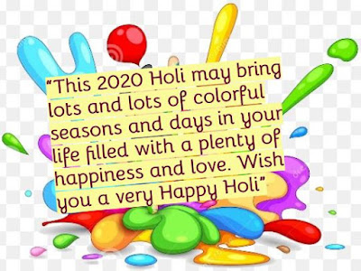 Wish you a very Happy Holi 2020