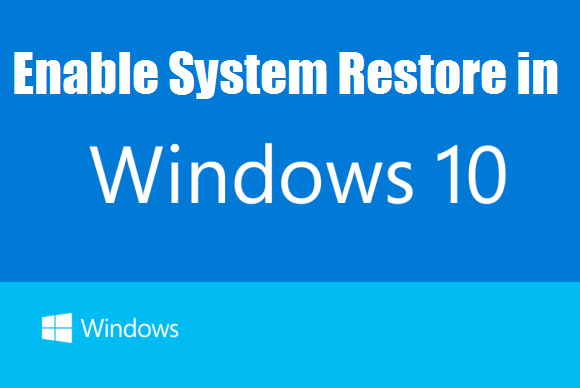 How to configure the System Restore feature in Windows 10