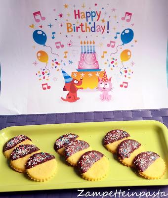 Biscotti di pasta frolla e cioccolato - Biscotti per compleanno bambini