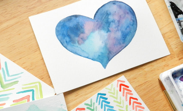 purple heart watercolors: grow creative