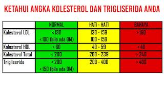 Ketahui angka Kolesterol dan trigliserida anda