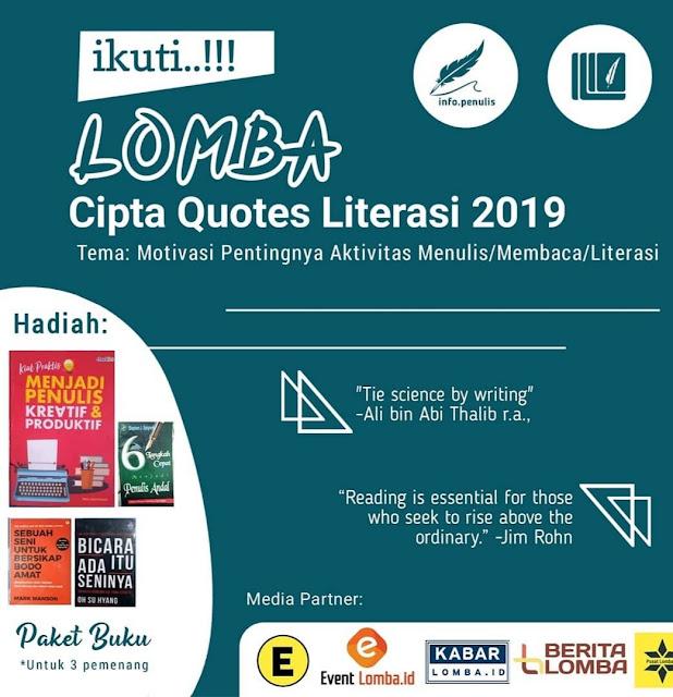 Lomba Cipta Quotes Literasi Nasional 2019