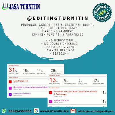 Jasa Lolos Uji Turnitin Jurnal Skripsi Tesis Disertasi Bahasa Inggris di Indonesia