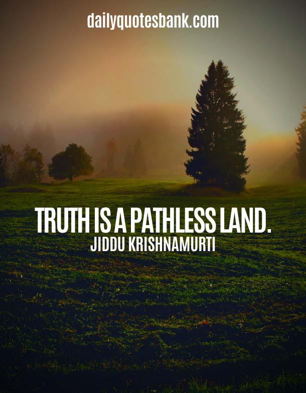 Short Jiddu Krishnamurti Quotes
