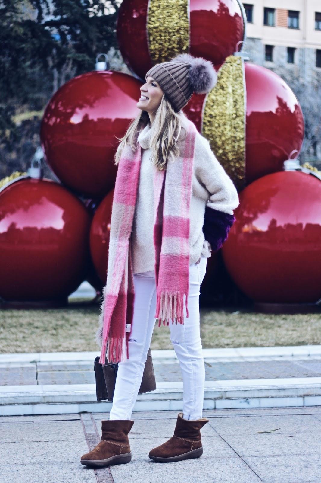 maxi bufanda rosa