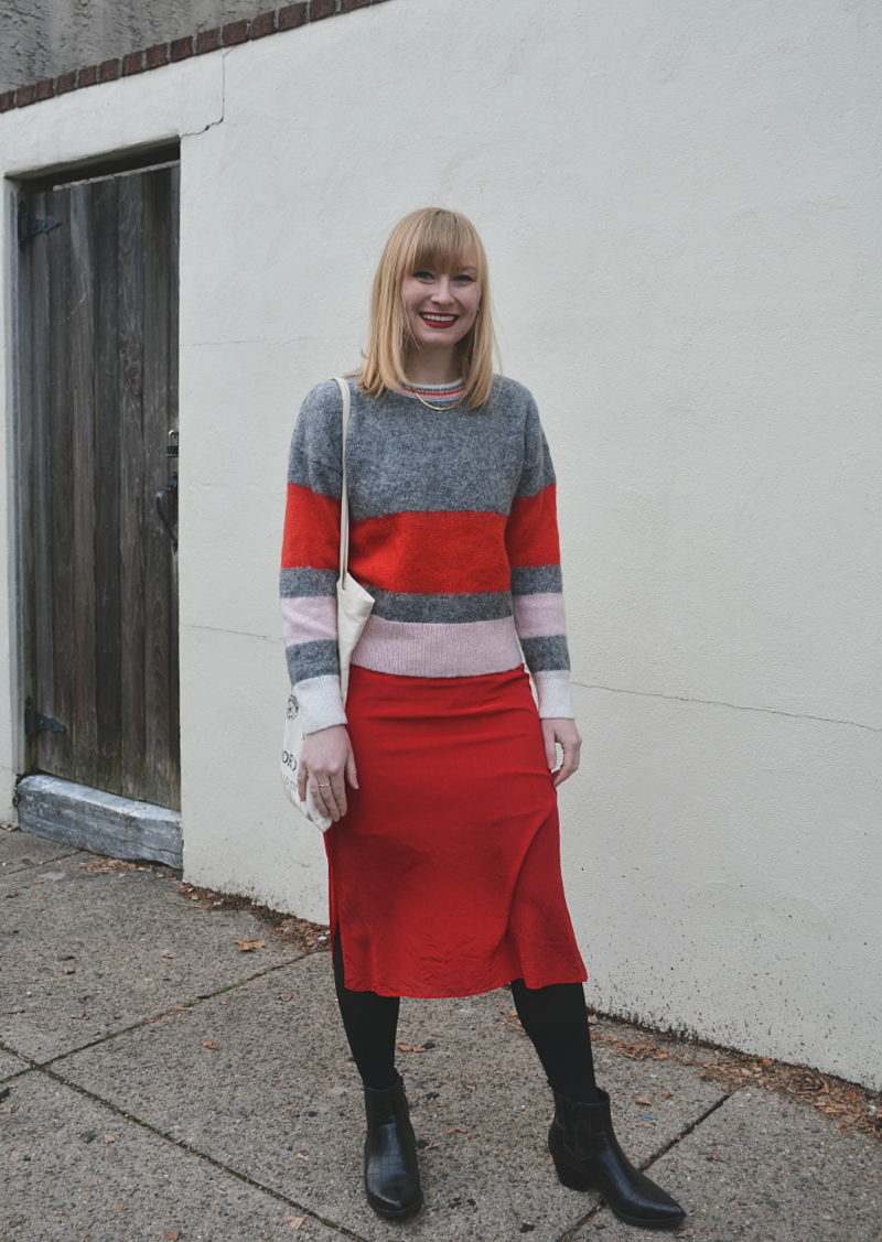 Styling a Sweater Over a Slip Dress   Organized Mess