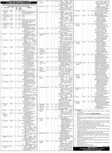 jobs in pakistan newspaper UON Jobs today