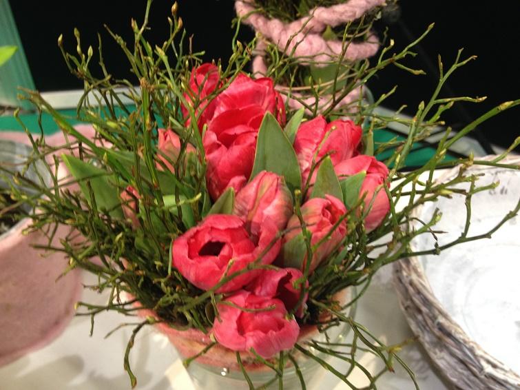 Floristikidee für Ostern - Tulpenstrauß