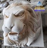 patung air mancur kepala macan
