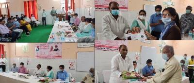 जालौन : आयुष्मान योजना गरीबों के लिए वरदान : सदर विधायक गौरी शंकर वर्मा , आयुष्मान योजना की तीसरी वर्ष गांठ पर जिला अस्पताल में हुआ कार्यक्रम