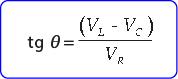 Rumus beda sudut fase tegangan dan arus pada rangkaian RLC