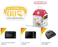 Logo Whirlpool ti regala My Cooking Box e sconti fino al 50% su piccoli elettrodomestici