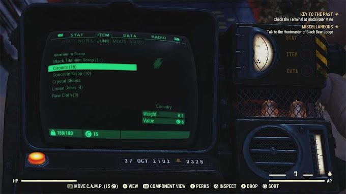 Где найти схемы в Fallout 76