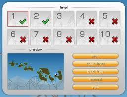 acá se muestran los 10 niveles del juego.