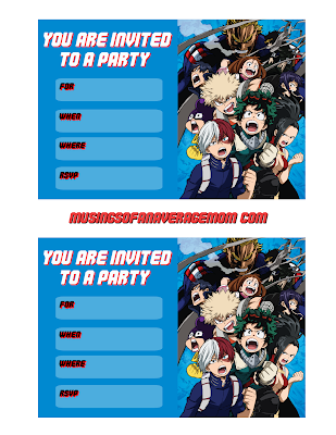 my hero academia free printables,