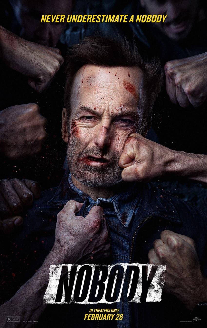 Вышел трейлер криминального боевика «Никто» - нового фильма создателей «Хардкора» и «Джона Уика» - Постер