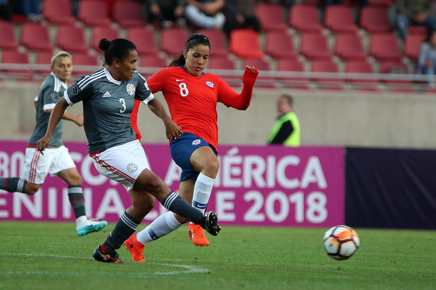 Chile y Paraguay en Copa América Femenina 2018, 4 de abril