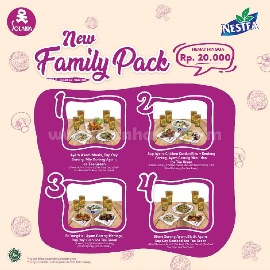 SOLARIA Promo New Family Pack – HEMAT HINGGA Rp. 20.000