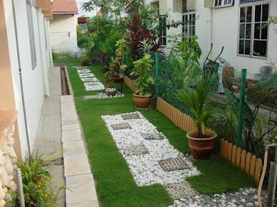 Inspirasi Desain Taman Halaman Samping Rumah