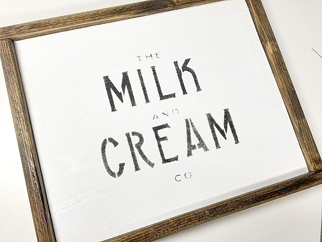 Making a Special Order Milk and Cream Sign