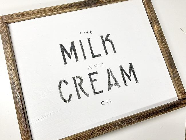 Farmhouse Milk and Cream Sign