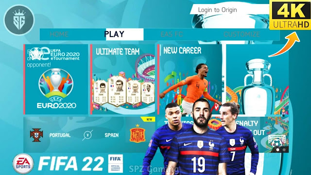 Download FIFA 22 Mobile UEFA EURO 2020 Edition Android Offline 800 MB Best Graphics