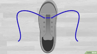 Cara Memasang Tali Sepatu Menyilang tutorial 1