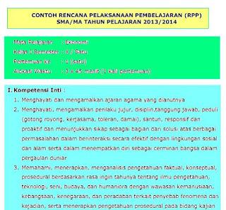 Contoh RPP Ekonomi Kelas X Kurikulum 2013 Dan Silabus