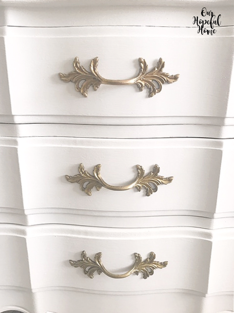 vintage brass leaf drawer pulls