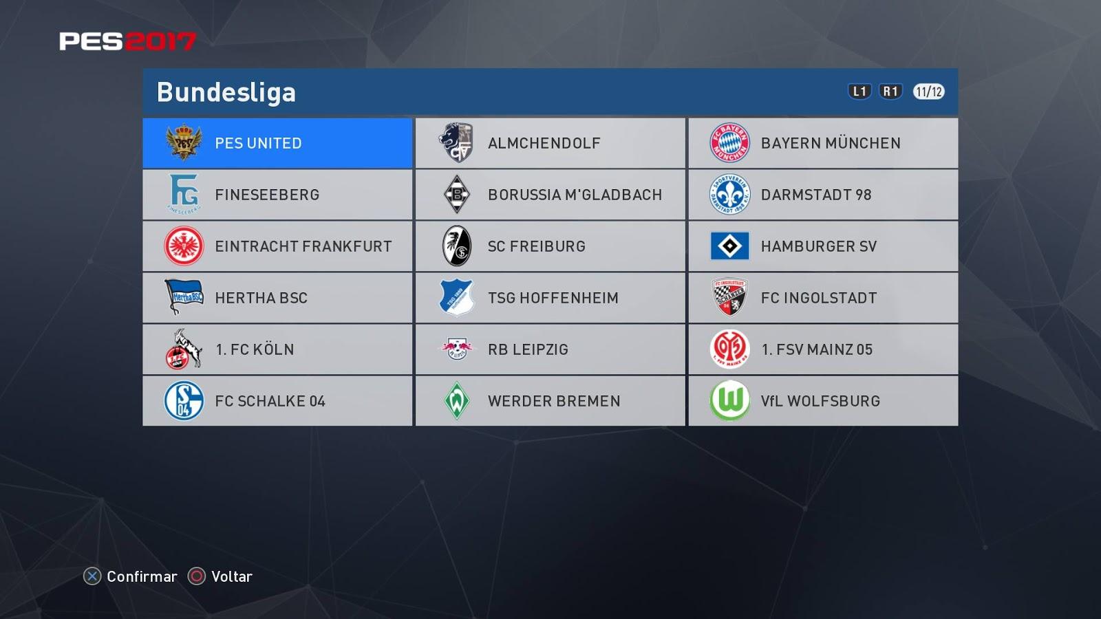 Bundesliga Facepack Vol 20 - PES 2017 - PATCH PES