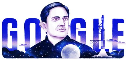 Google doodle celebrates 100th birthday of Vikram Sarabhai