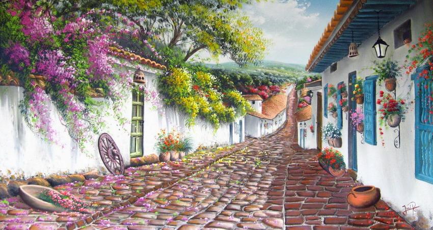 Cuadros modernos pinturas y dibujos cuadros con paisajes for Cuadros mexicanos rusticos