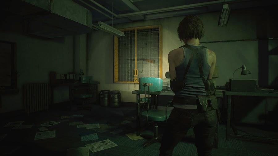 resident evil 3 remake screenshot image jill valentine get shotgun raccoon city